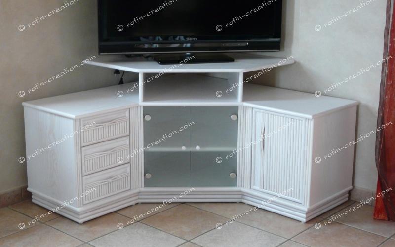 Meuble D Angle Tv Hifi Colombo Avec Rangement Meuble Hifi Et Tv